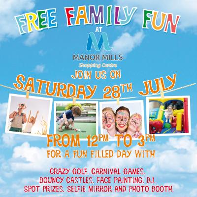 FREE FAMILY FUN DAY SATURDAY 28TH JULY