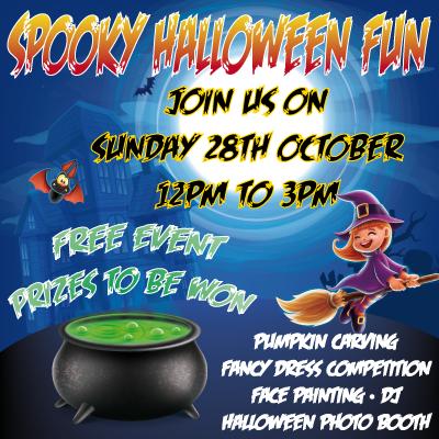 Spooky Halloween Fun Sunday 28th October