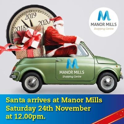 Santa arrives on Saturday 24th November at 12pm