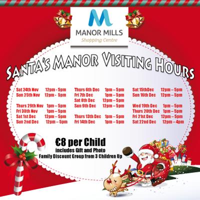 Santa's Manor Visiting Times