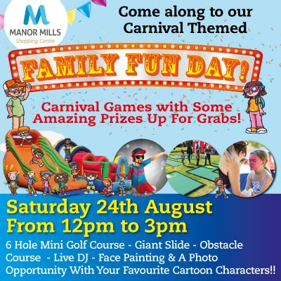 Carnival Themed Family Fun Day Saturday 24th August 12pm to 3pm