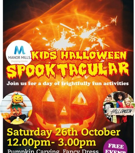 Kids Halloween Spooktactular. Join us for a day of frightfully fun activities from 12pm to 3pm
